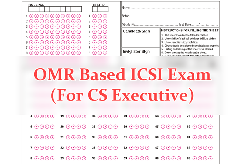 OMR Based ICSI Exam - CS Executive