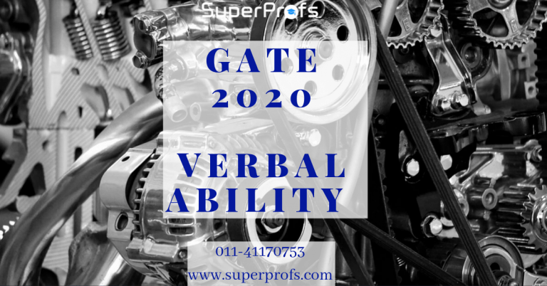 Verbal ability for GATE