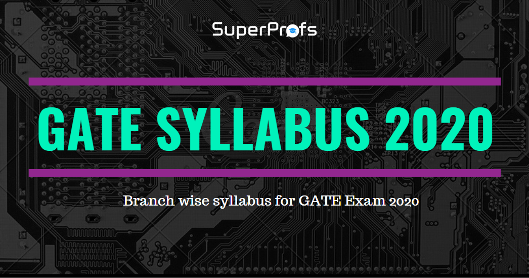 GATE syllabus 2020 [Official] – Branchwise syllabus for GATE 2020
