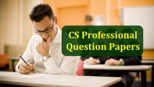 CS Professional Question papers