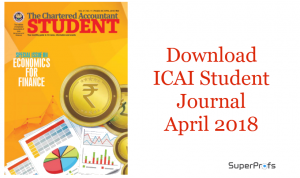 Download ICAI Student Journal April 2018 - CA Monthly Journal