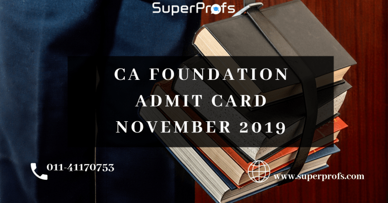 CA Foundation Admit Card nov 2019