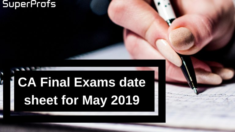 CA Final Exam Datesheet