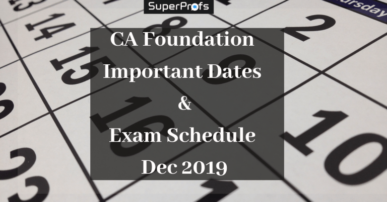 CA Foundation Important Dates