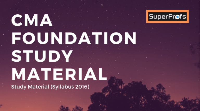 CMA Foundation Study Material