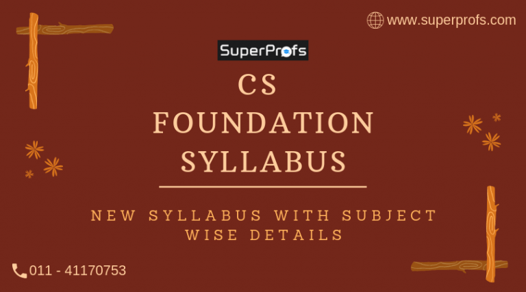 CS Foundation Syllabus