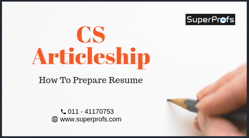 how to write resume cs articleship