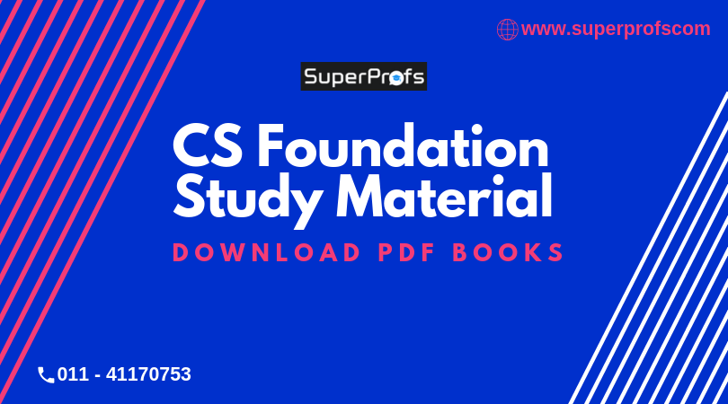 CS Foundation Study Material | Download PDF Books