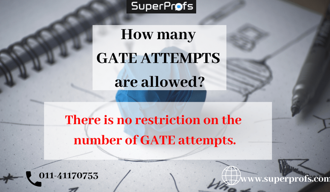 Number of attempts for GATE exam for SC, ST, OBC and General