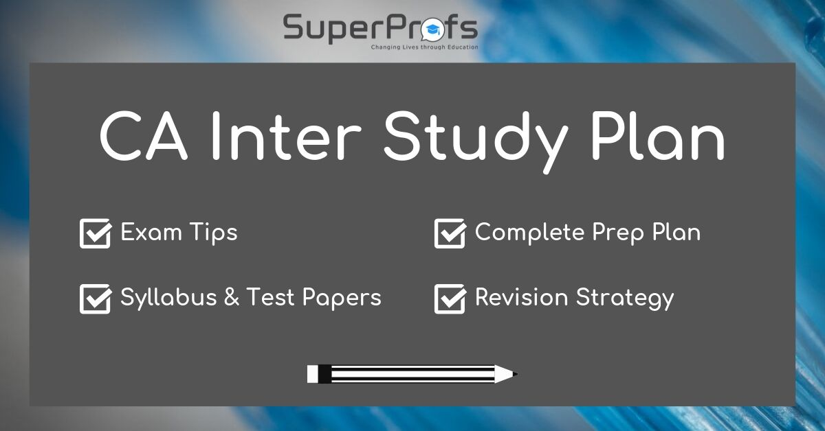 CA Inter Study Plan   CA Inter Revision Strategy 2020