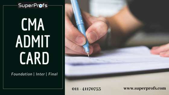 Download CMA Admit Card  2019 – CMA Foundation Inter Final Exam