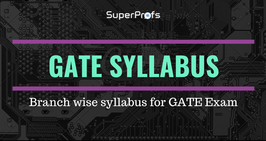 GATE syllabus 2021 [Official] – Branchwise syllabus for GATE 2021